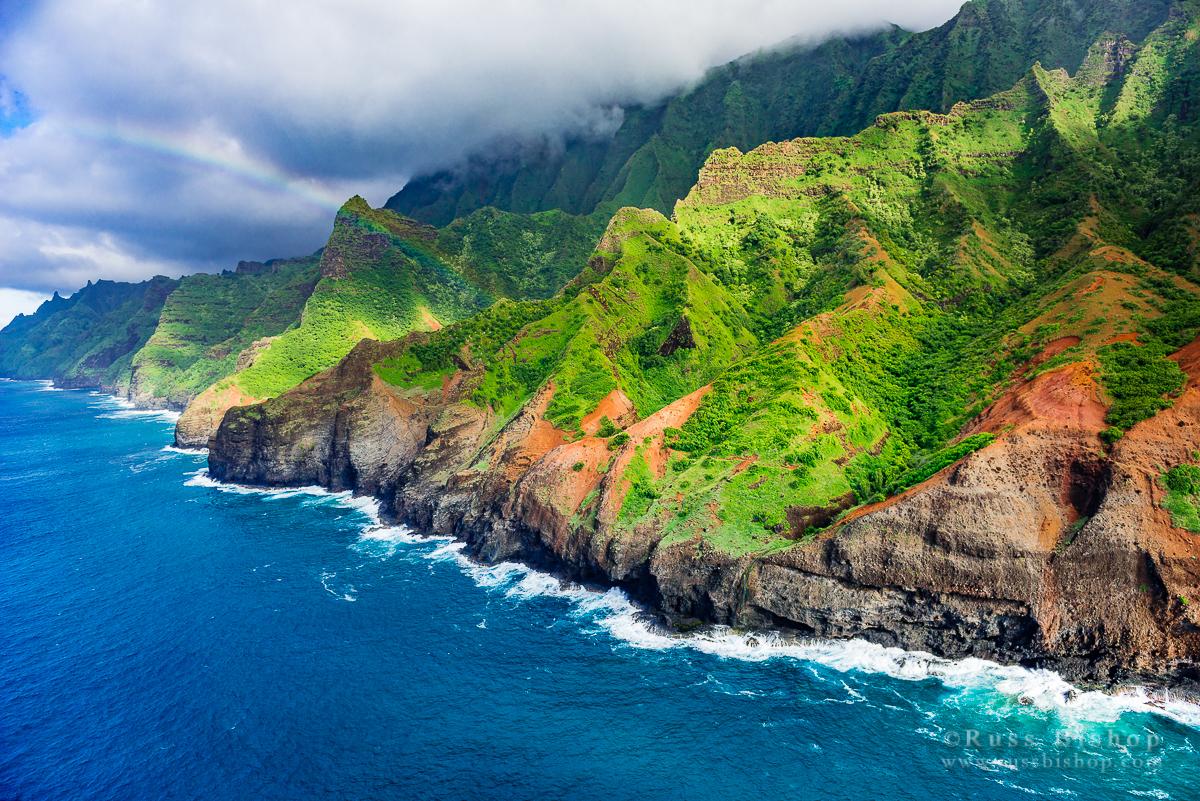 Afternoon light on the Na Pali Coast, Napali Coast Wilderness State Park, Kauai, Hawaii