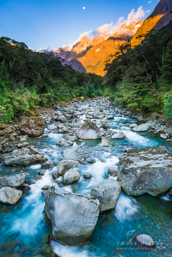 Mount Madeline and the Tutoko River, Fiordland National Park, New Zealand