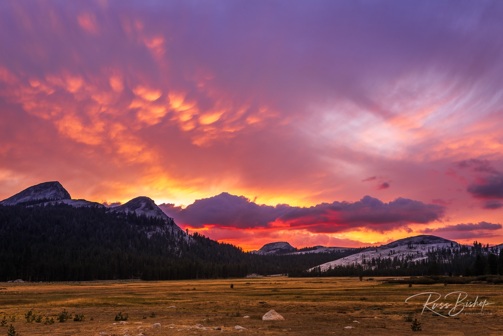 Sunset over Tuolumne Meadows, Yosemite National Park, California